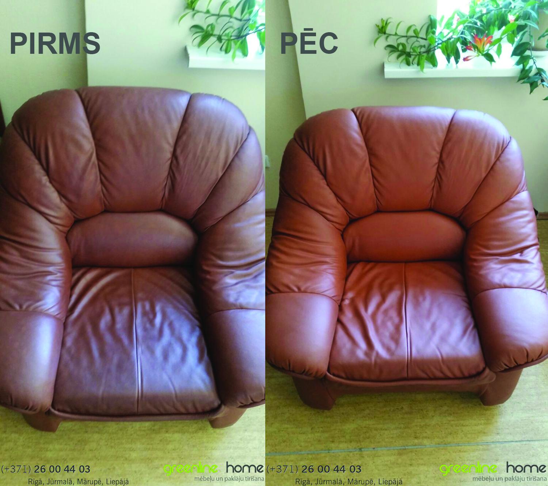 Ādas krēslu tīrīšana